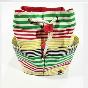 VTG USA Tommy Hilfiger Flag Striped Purse Backpack